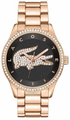 Lacoste Ladies' Victoria Rose Gold Crystal Set Watch 2000871