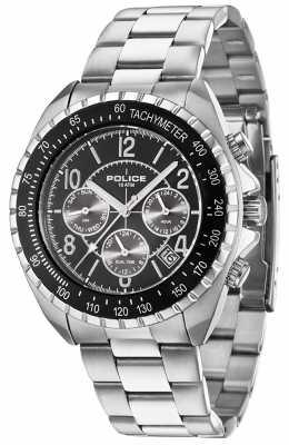 Police Mens Navy V, Steel, Black Dial Watch 14343JS/02M