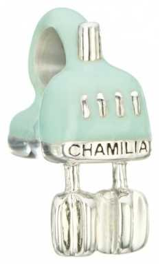 Chamilia Sterling Silver w Light Green Enamel - Beat It Electric Mixer 2020-0766