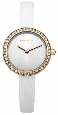 Karen Millen Ladies' Rose Tone Classic Watch KM146WRG