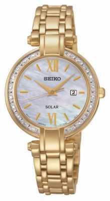 Seiko Womens' Diamond Solar Powered Watch SUT182P9