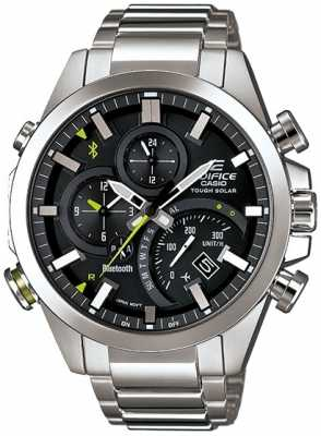 Casio Mens Edifice Bluetooth 4.0 Smartwatch Stainless Steel EQB-500D-1AER