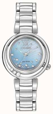 Citizen Eco-Drive Sunrise L Womens Diamond Blue Dial EM0320-59D