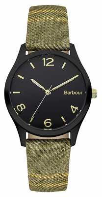 Barbour Afton Tartan Leather Strap Watch BB002BKTR