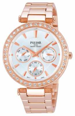 Pulsar Rose Gold Womens Day Date PP6162X1