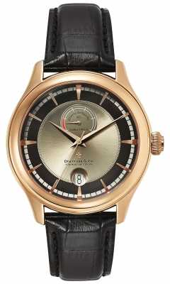 Dreyfuss Mens Reserve De Marche Rose Gold Watch DGS00113/04