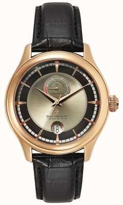 Dreyfuss Mens Reserve De Marche Rose Gold Watch DGS00113/04