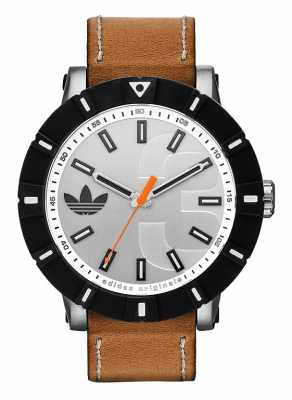 adidas Originals Amsterdam Tan Leather Strap Watch ADH2999