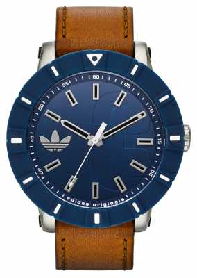 adidas Originals Amsterdam Brown Leather Strap Watch ADH3000