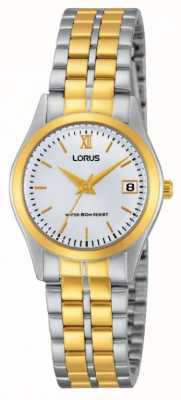 Lorus Ladies Classic Two Tone Watch RH770AX9