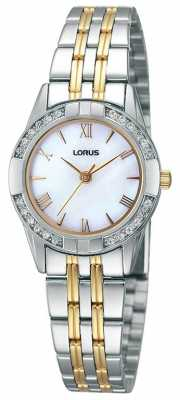 Lorus Ladies' Two Tone Swarovski Crystal Watch RRS93TX9