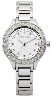 Karen Millen Womens, Steel, Crystal Bezel/ Dial Watch KM108SMX