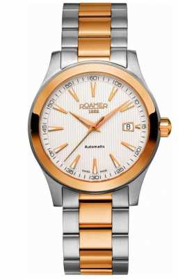 Roamer Mens Automatic Rose Gold/ Stainless Steel Date Watch 950660492590