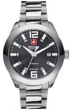 Swiss Military Hanowa Mens Hanowa Pegasus Black Dial Automatic Watch 5-5185.7.04.007