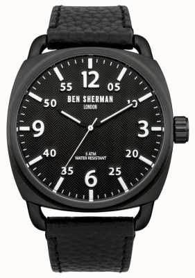 Ben Sherman Mens Covent Herringbone Watch Black Dial WB008B