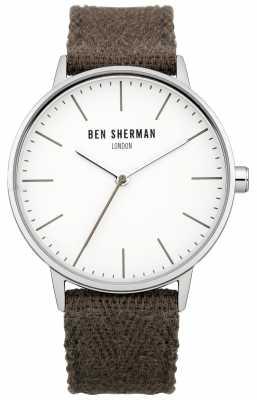 Ben Sherman Mens Brown Cotton Strap Watch WB009GR