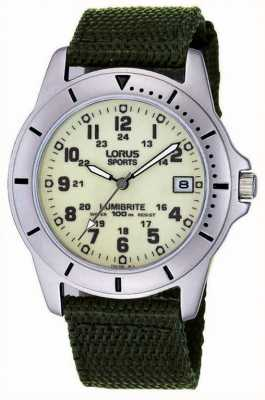 Lorus Gent's Analogue Canvas Strap Watch RXH005L9
