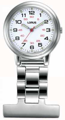 Lorus Unisex Nurse Fob Watch White Dial RG251CX9