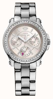 Juicy Couture Womens Pedigree, Pink Dial, Crystal Watch 1901104