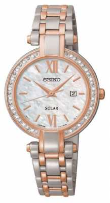 Seiko Womens' Solar Powered Watch SUT184P9