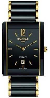Roamer Unisex Ceraline Saphira Black Ceramic Rose Gold Watch 690856485460