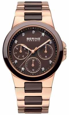 Bering Womens Multi-Dial, Ceramic, Rose Gold Watch 32237-765