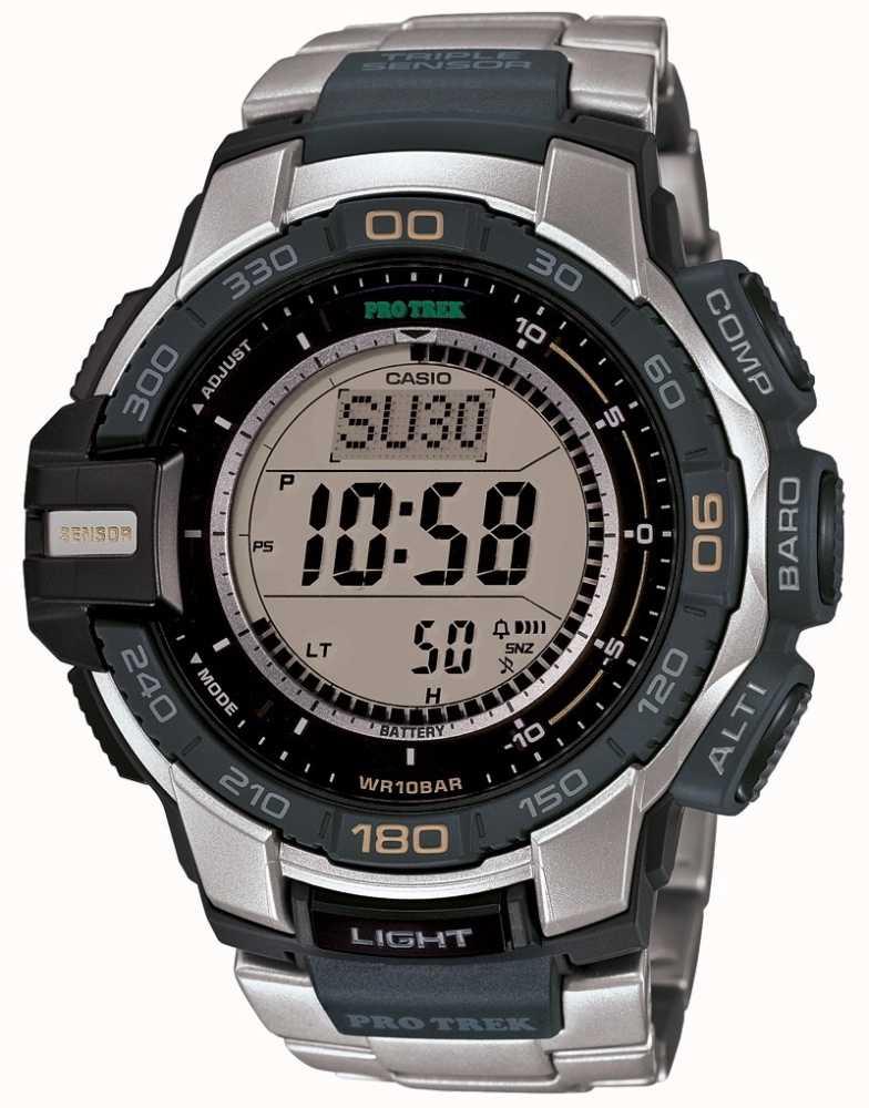 2f8447c950d Casio Mens Pro Trek Triple Sensor Watch PRG-270D-7ER - First Class ...