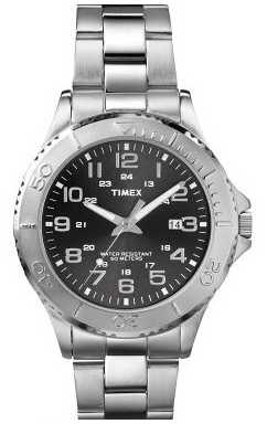 Timex Mens Classic Silver Steel Bracelet Watch T2P391