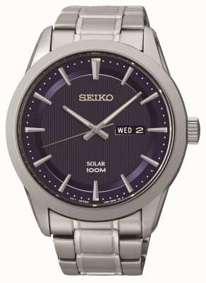 Seiko Mens Stainless Steel Solar Powered Watch SNE361P1