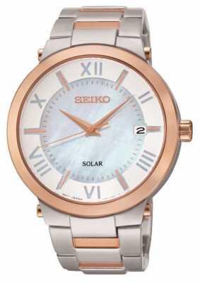 Seiko Womens' Solar Powered Watch SNE882P9