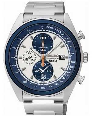 Seiko Mens Sports Chronograph Watch SNDF87P1