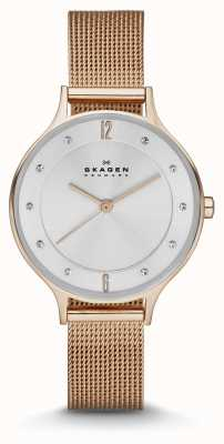 Skagen Ladies Anita Rose Gold Mesh Watch SKW2151