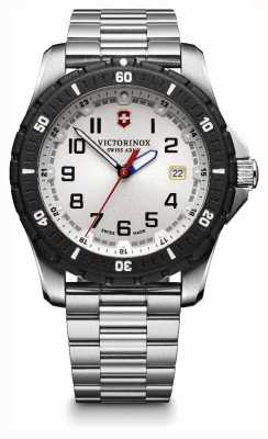 Victorinox Swiss Army Mens Maverick Stainless Steel Black Bezel Watch 241677