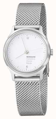 Mondaine Ladies Mondaine Watch | Stainless Steel Mesh Strap | MH1.L1110.SM