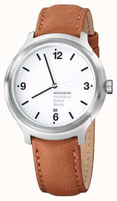Mondaine Helvetica No1 Bold 43 Brown Leather MH1.B1210.LG
