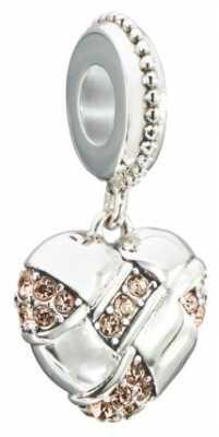 Chamilia Pave Woven Heart Charm 2025-1339