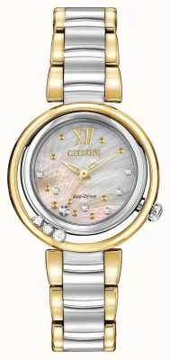 Citizen Eco-Drive Sunrise L Womens Diamond Two Tone EM0324-58D