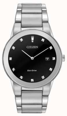 Citizen | Mens Eco-Drive Axiom | Black Diamond Dial | AU1060-51G