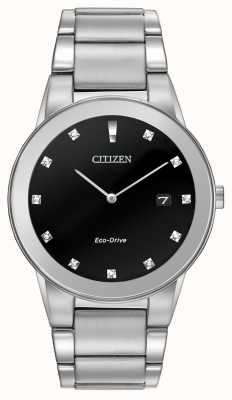 Citizen | Mens Eco-Drive Axiom | Black Diamond Dial | AU1060-51G