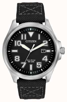 Citizen Mens Military Eco-Drive Strap Watch AW1410-08E