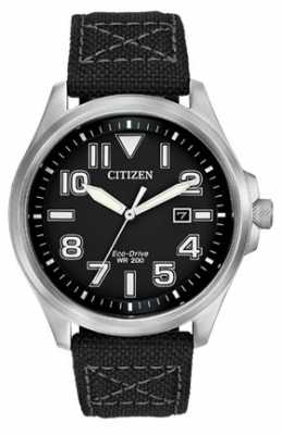 Citizen Men's Military Eco-Drive Strap Watch AW1410-08E