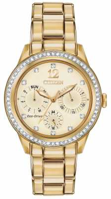 Citizen Womens' Silhouette Crystal Eco-Drive Watch FD2012-52P