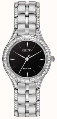 Citizen Womens' Silhouette Crystal Eco-Drive Watch FE2060-53E