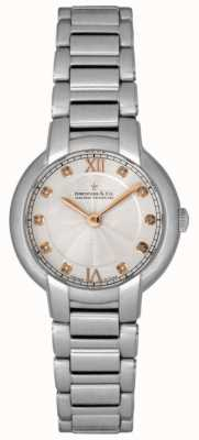 Dreyfuss Ladies Diamond Set Silver Watch DLB00060/D/01