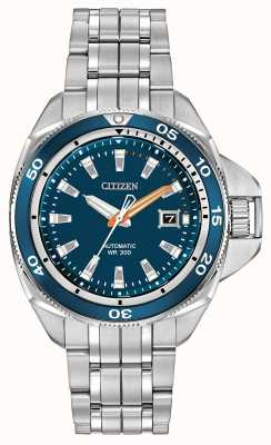 Citizen Mens Signature Automatic Grand Touring Blue Dial Watch NB1031-53L