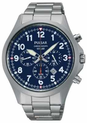 Pulsar Men's Solar Sport Chronograph Watch PX5001X1