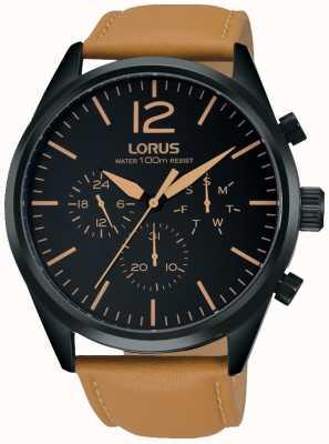 Lorus Mens Brown Chronograph Watch RX411AX9