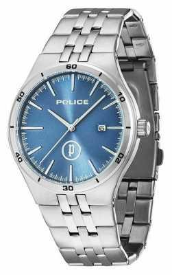 Police Mens Steel, Light Blue Dial Watch 14440JS/03M