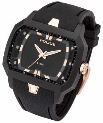 Police Mens Hydra, Black, Rose Gold Watch 13838JPB/02A