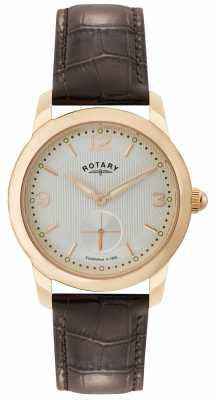 Rotary Mens Cambridge Rose Tone Watch GS02702/01